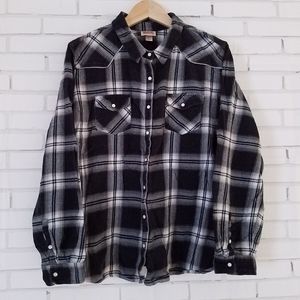Women's Black & White Flannel